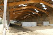 Charpente bois pour stabulation vaches laitières